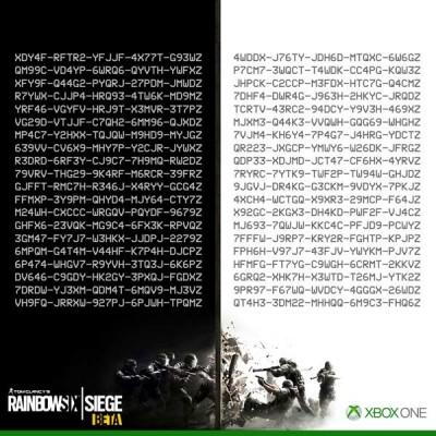 rainbow six siege free codes xbox one