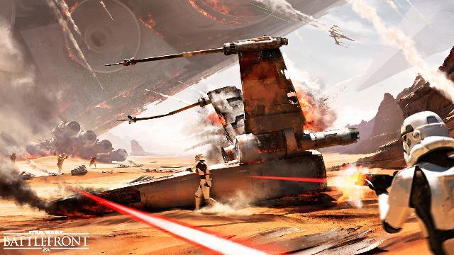 Concept art for the Battle of Jakku