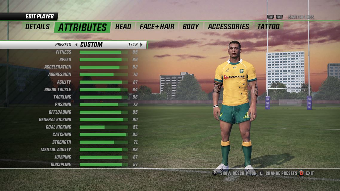 Rugby Challenge 3 Cheats and Codes