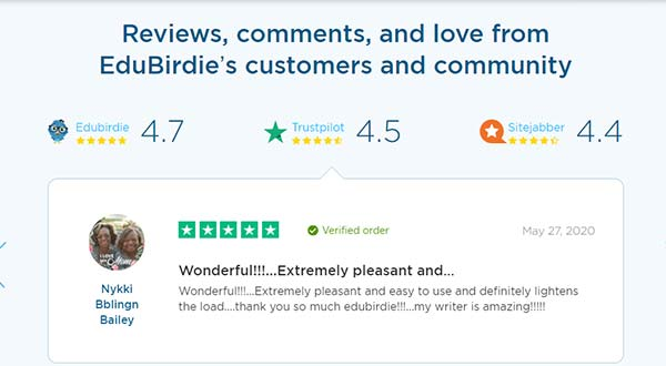EduBirdie's reviews, comments and love