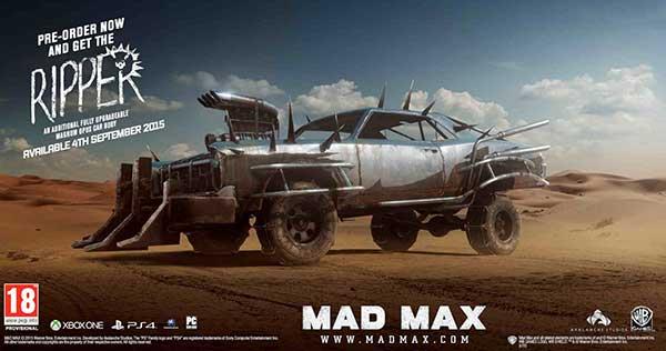 Mad Max Pre-Order RIPPER