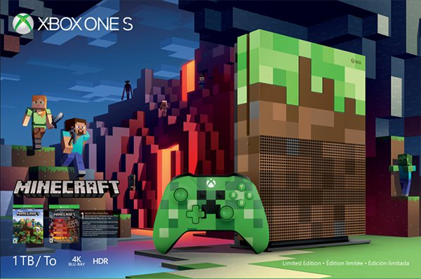 New 'Minecraft' Xbox One S Console And Wireless Controllers Now Available For Pre-order