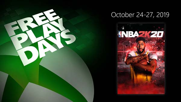 XBOX Free Play Days: Play NBA 2K20 for free this week on XBOX ONE (October 24-27)