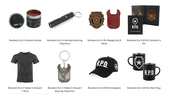 Capcom & Numskull Designs reveal the official Resident Evil 2 merchandise range