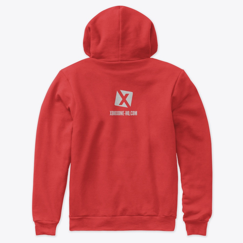 XBOXONE-HQ Red Hoodie (Back)