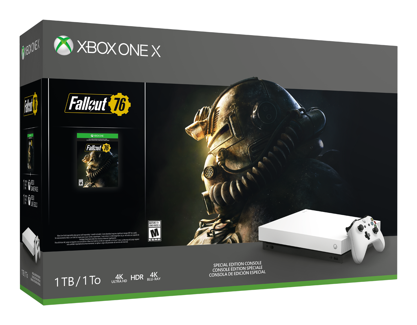 Xbox One X Robot White Special Edition Fallout 76 Bundle