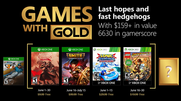 Games with Gold June 2018: Assassin's Creed Russia, Sonic All-Stars Racing & LEGO Indiana Jones 2