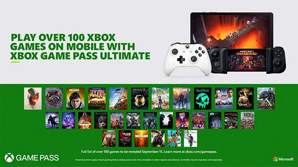 Xbox Game Pass Ultimate Cloud Gaming coming to mobile devices on September 15
