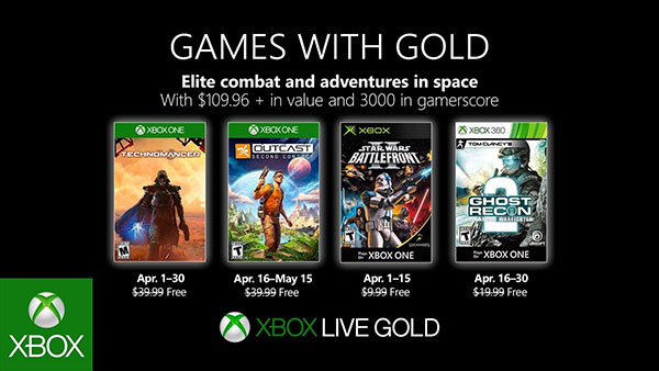 Xbox Games With Gold free games for April 2019 revealed
