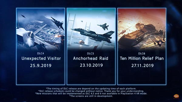 Ace Combat 7: Skies Unknown - DLC Release Dates