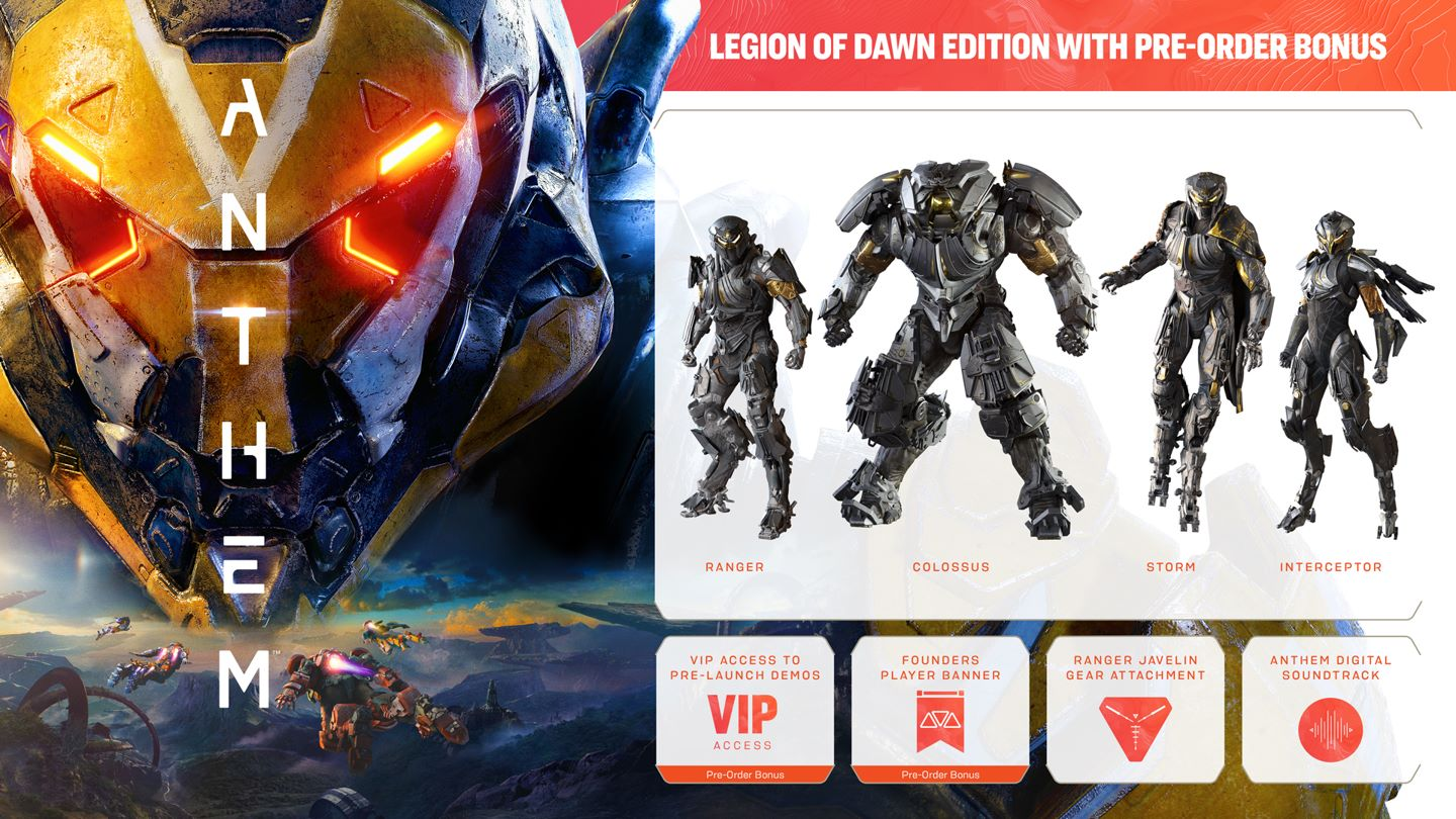 Anthem Pre-order Bonuses (Legion of Dawn Edition)