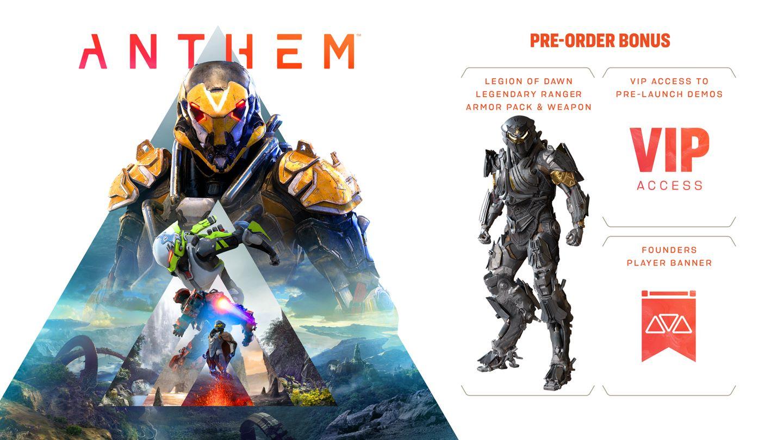 Anthem Pre-order Bonuses (Standard Edition)