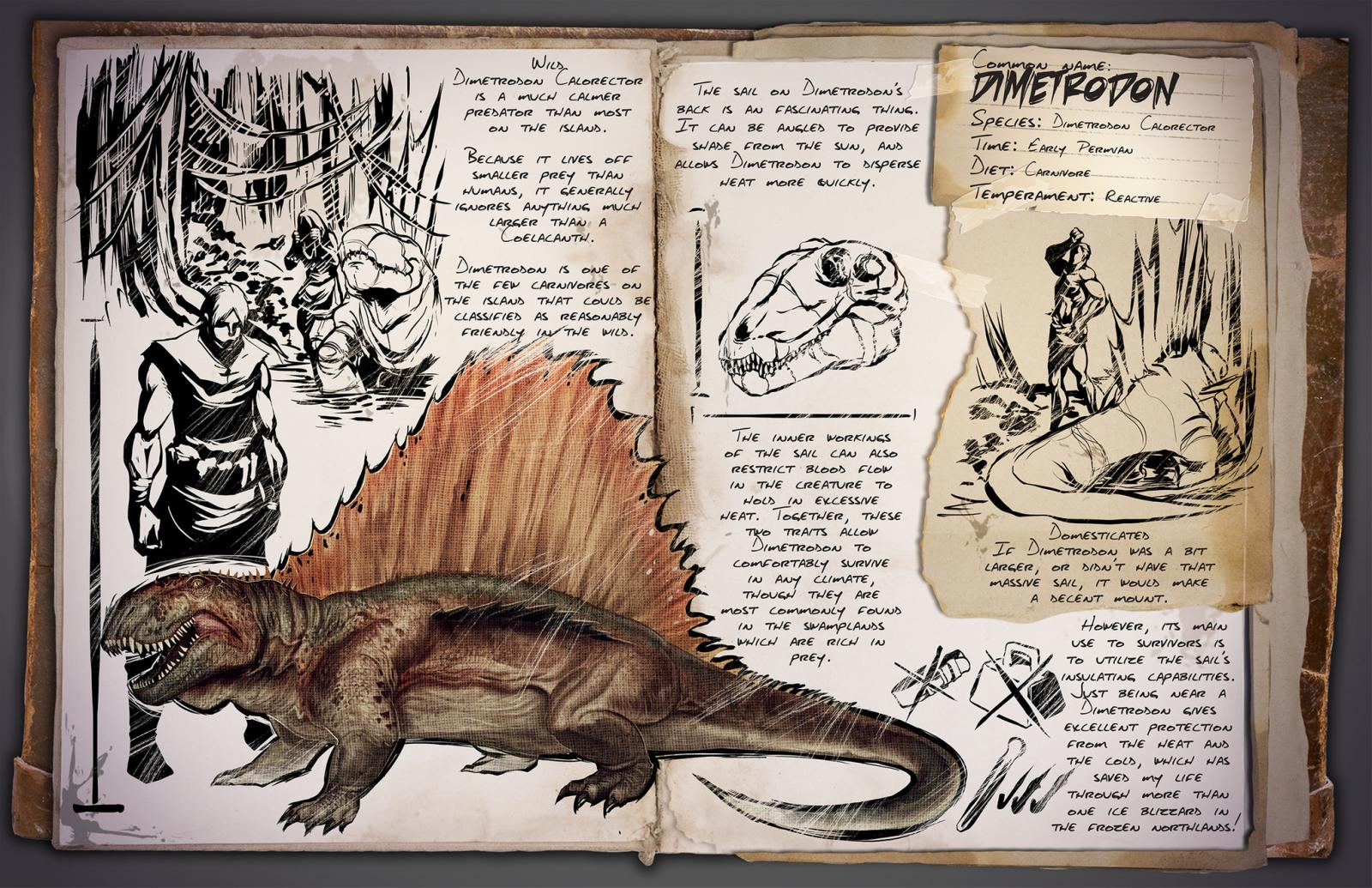 Ark Survival Evolved - Dimetrodon Info