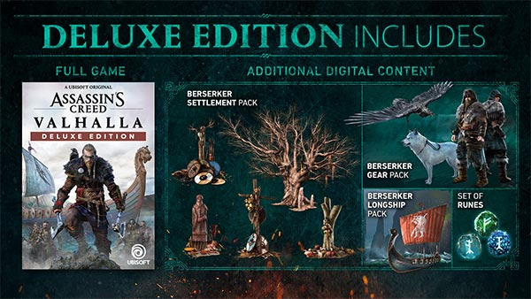 Assassin's Creed Valhalla Deluxe Edition is now available for Xbox One/X & S
