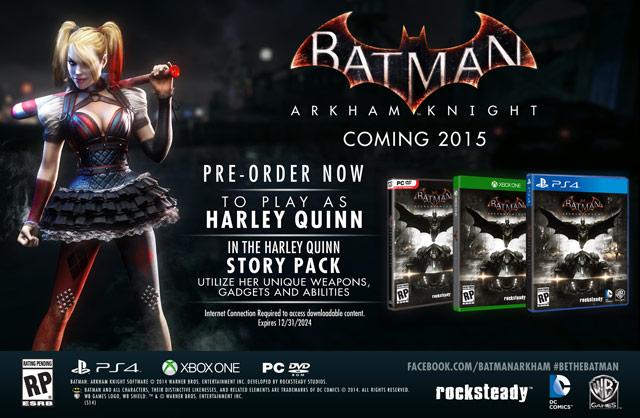 Batman Arkham Knight Pre-Order