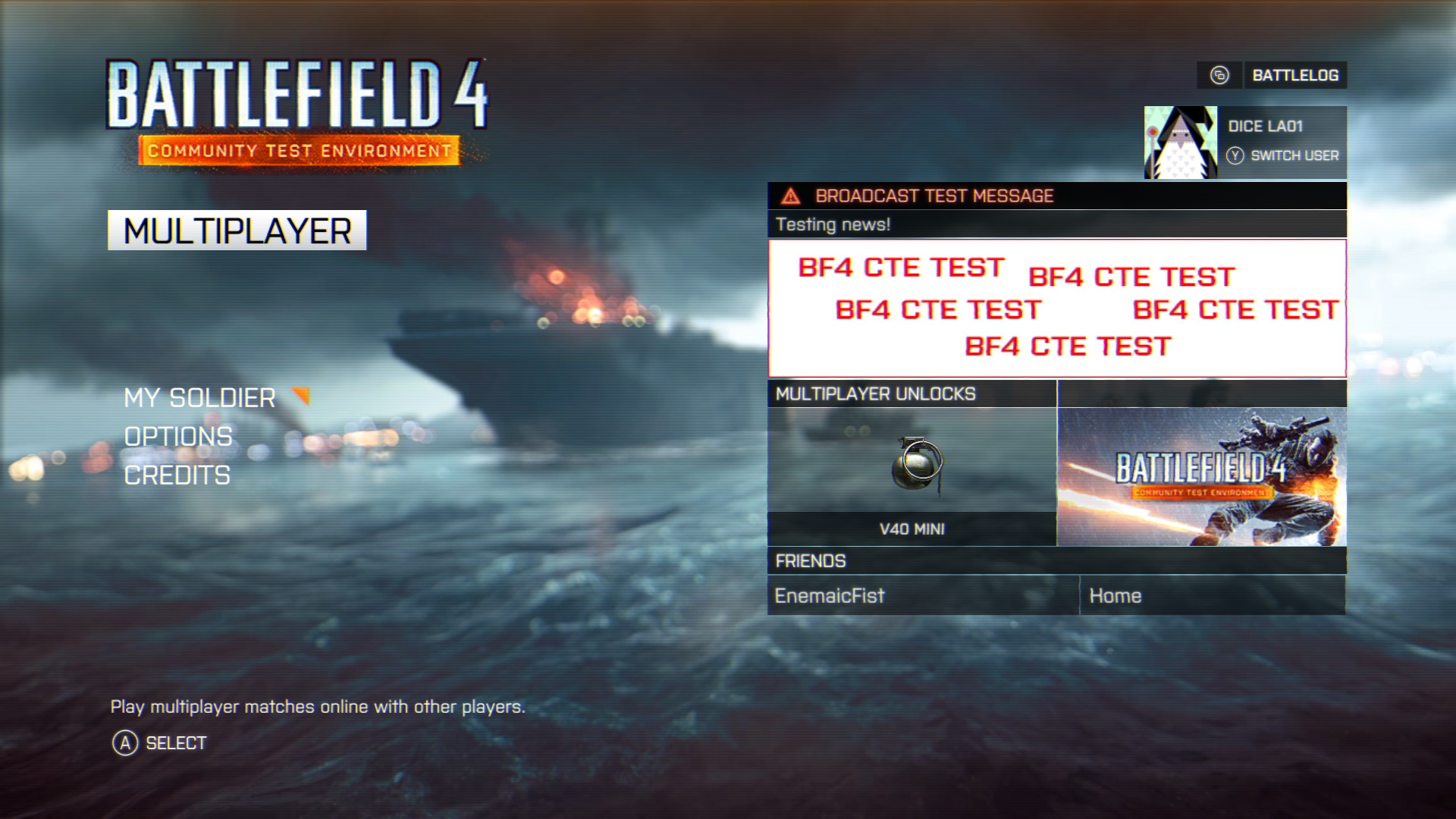 battlefield 4 39 s community test environment cte launches on xbox one battlefield at night. Black Bedroom Furniture Sets. Home Design Ideas