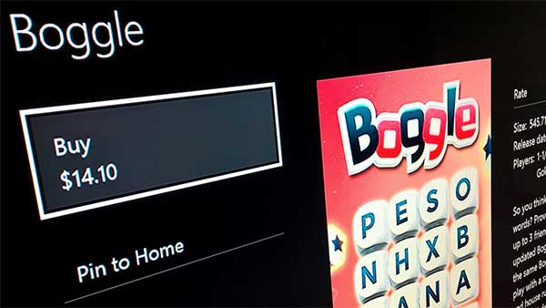 Boggle for Xbox One
