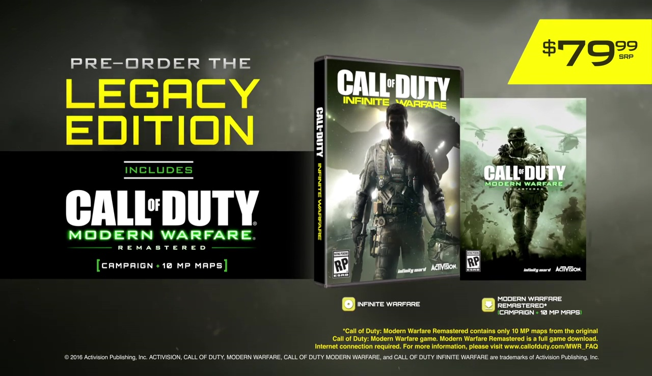 Call of Duty Infinite Warfare Preorder