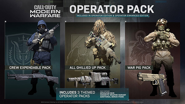 Call of Duty Modern Warfare Operator Pack