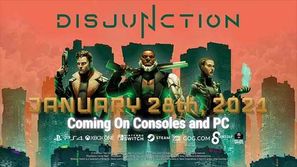 'Disjunction' releases January 28 on Xbox One, PS4, Nintendo Switch & PC