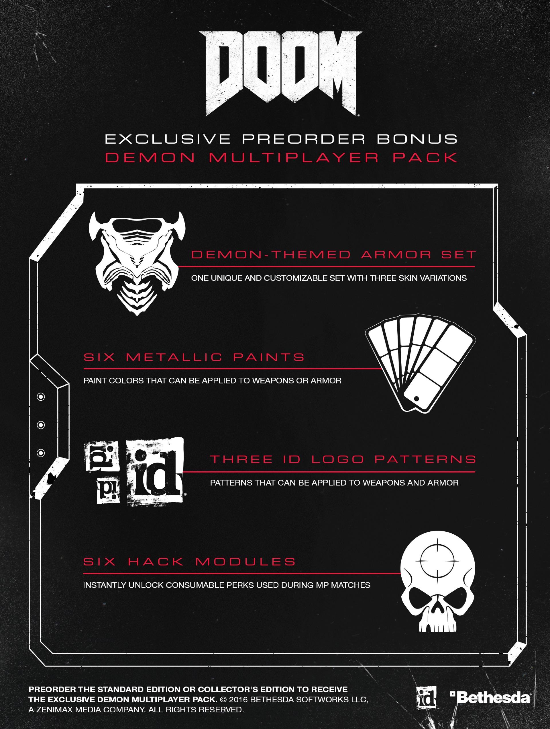 DOOM Preorder DLC Details