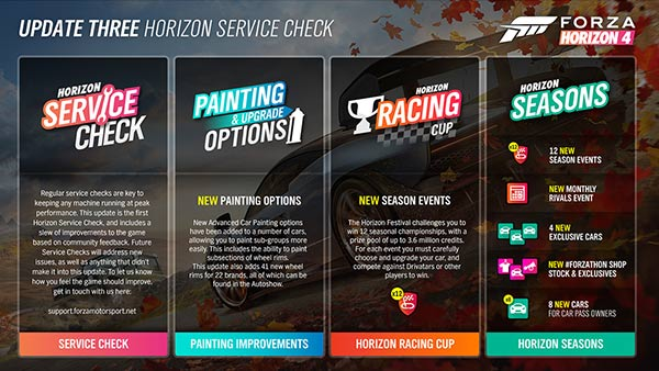 Forza Horizon 4 Series 3 Update