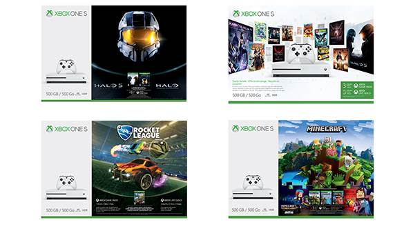 Four New Xbox One S Bundles