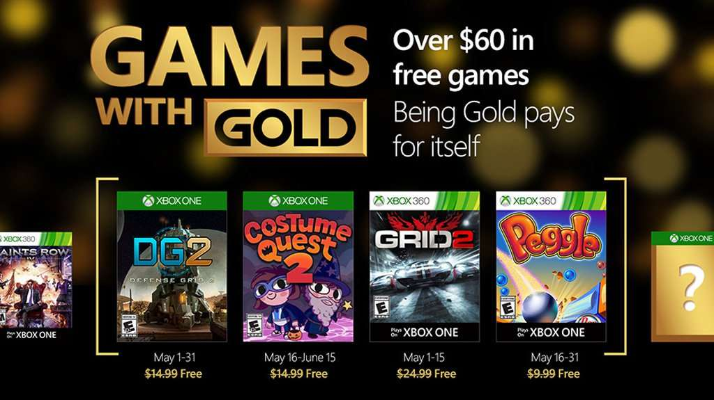 Games with Gold for May 2016
