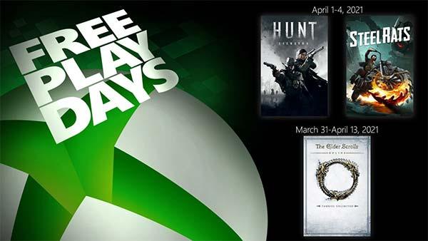 Xbox Free Play Days (April 1-4, 2021)