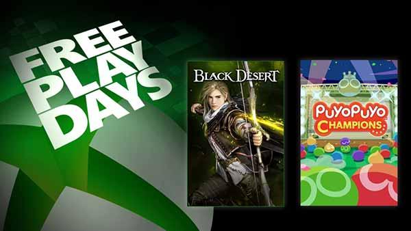 Free Play Days Black Desert & PuyoPuyo Champions