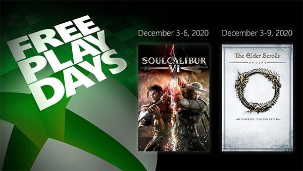 December 2020 Free Play Days