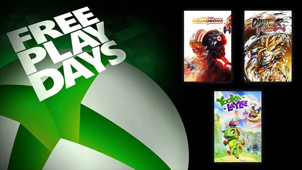 Free Play Days Adds Star Wars: Squadrons, Dragon Ball FighterZ, and Yooka-Laylee