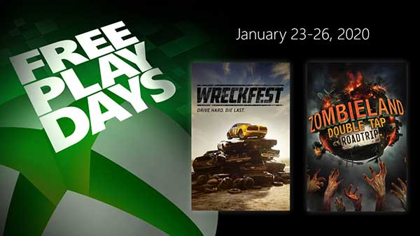 Free Play Days: Wreckfest And Zombieland: Double Tap- Road Trip (Jan 23-26)
