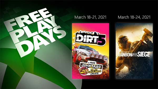 Free Play Days March 18-21