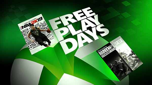 Free Play Days: NBA 2k19 and Rainbow Six Siege (Feb 14-17)