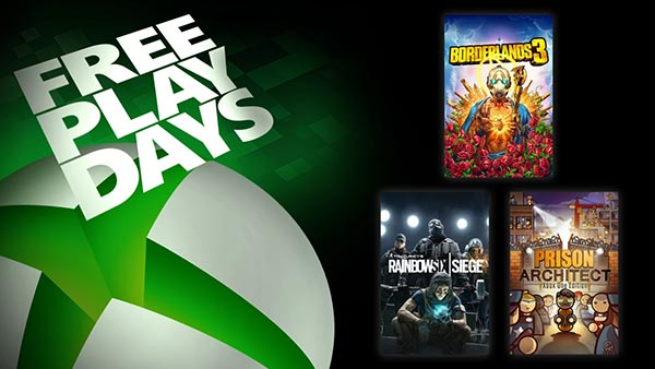 Free Play Days: Borderlands 3, Rainbow Six Siege, And Prison Architect (Nov 21-24)