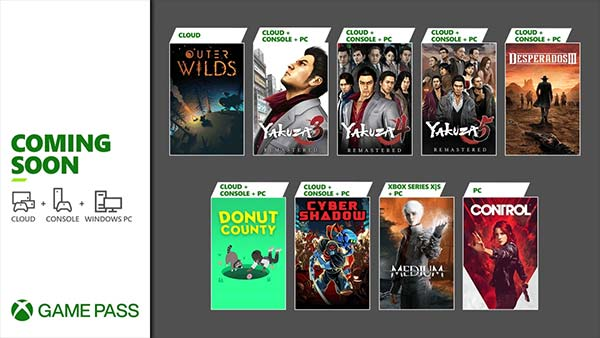 New Games Coming to Xbox Game Pass in January 2021