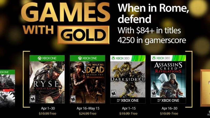 Xbox Live Games With Gold Revealed For April 2017
