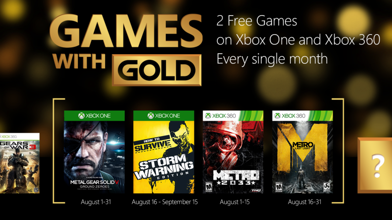 Games with Gold August 2015