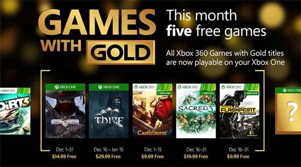 Xbox Games with Gold for December