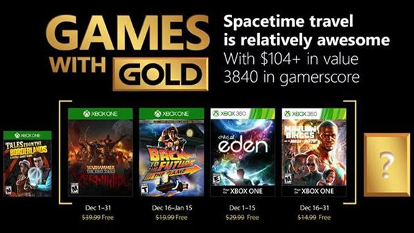 Xbox Games With Gold Revealed For December 2017