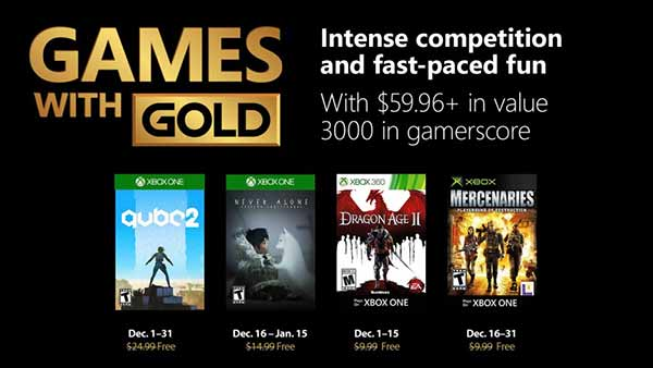 Games With Gold December 2018