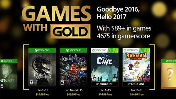 Xbox Live Games with Gold for January 2017