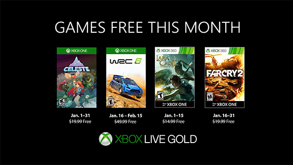 Games with Gold January 2019