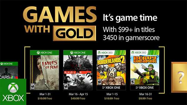Xbox Live Games With Gold Revealed For March 2017