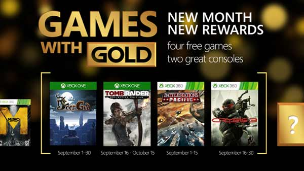 Games With Gold September (Xbox One, Xbox 360)
