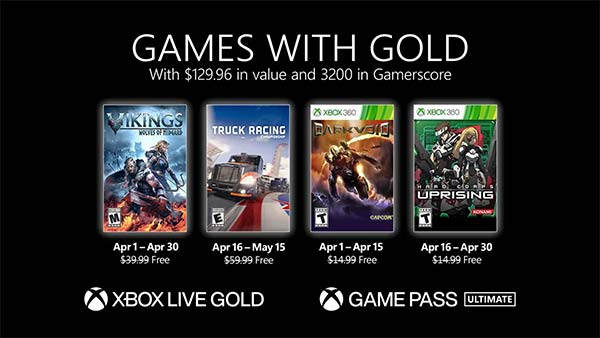 Xbox Games with Gold for April 2021