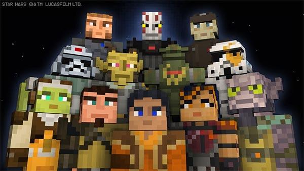 Minecraft Star Wars Rebels Skin Pack DLC