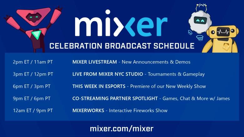 Mixer - Launch Schedule