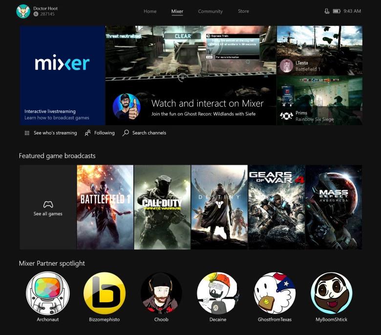 MIXER - Xbox One Screenshot